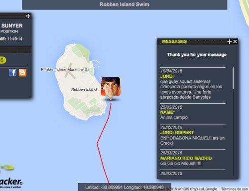El nedador extrem Miquel Suñer completa la travessia de Robben Island
